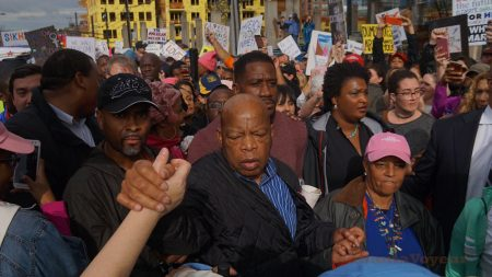 "Civil Rights hero and longtime congressman Rep. John Lewis passed away Friday night after his battle with pancreatic cancer. ""DSC03743e-sw"" by HotlantaVoyeur is licensed under CC BY-NC-SA 2.0"