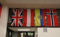 Flags hang in Sacramento State's Global Studies Lounge on March 11, 2020. ICE announced Monday that international students will have to take at least one in-person class in the fall to be able to stay in the U.S., putting Sac State international students at risk of being deported.