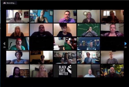 "Students, staff and alumni attending a ""BE FREE"" meeting partake in discussion on June 25, 2020, at the second meeting via Zoom. ""BE FREE"" meetings were started to address systemic racism within Sac State"
