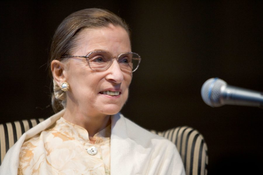 The late Honorable Justice Ruth Bader Ginsburg speaks at Wake Forest Law School in September 2005. Opinion writer Jordan Parker writes that RBG was a