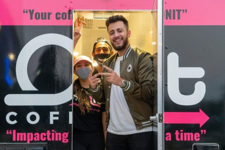 Onit Coffee founder and CEO Shadi Khattab poses for a photo with the small business