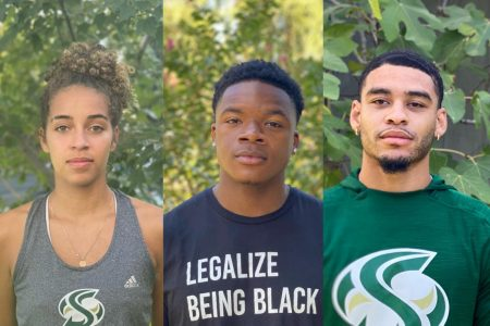 Athletes from the Sac State basketball, football and volleyball teams speak about the Black Lives Matter movement, social justice and police harassment.
