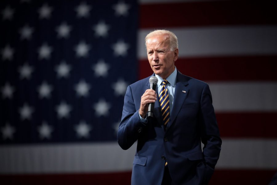 Former Vice President of the United States Joe Biden speaks with attendees at the Presidential Gun Sense Forum in Des Moines, Iowa on Aug. 10, 2019.