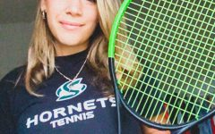 Captain of the Sac State women's tennis team Frana Ugarkovic poses with her racquet on Oct. 2, 2020. For health and safety reasons Ugarkovic is currently in Croatia practicing for senior season.