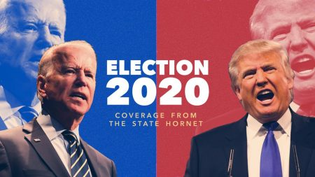 """""""Joe Biden"""" by Gage Skidmore is licensed under CC BY-SA 2.0, """"Donald Trump"""" by Gage Skidmore is licensed under CC BY-SA 2.0. Photo Illustration by Rahul Lal."""
