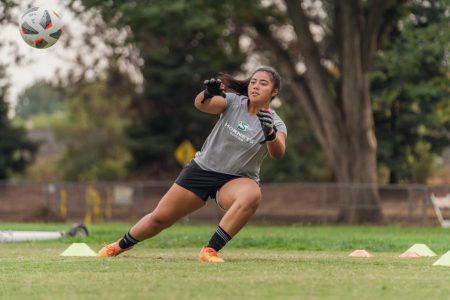 Aaliyah Fesili, goalkeeper for Sac State