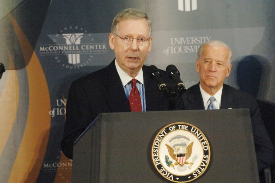 The+McConnell+Center+welcomed+Vice+President+Joe+Biden+as+a+part+of+the+McConnell+Center%27s+Distinguished+Speakers+series+Feb.+11%2C+2011.+Biden%27s+relationship+with+McConnell+will+be+the+key+to+a+successful+presidency%2C+says+opinion+writer+Jordan+Parker.+%22Senator+Mitch+McConnell+Welcoming+Vice+President+Joe+Biden%22+by+McConnell+Center+is+licensed+under+CC+BY-NC-ND+2.0