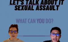 Sacramento State alumni Laura Swartzen (left) and Leander Loh discussed sexual assault during their