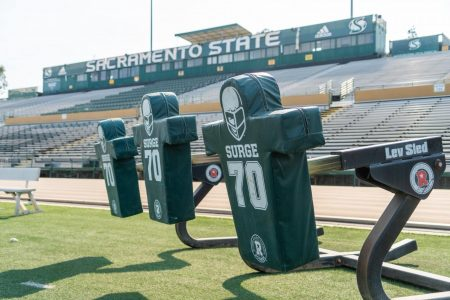 Hornet Stadium on Oct. 6, 2020. A Sacramento State football player has tested for COVID-19 causing him and 13 other players to be placed in quarantine. Assistant Athletic Director Brian Berger said the players are no longer in quarantine.