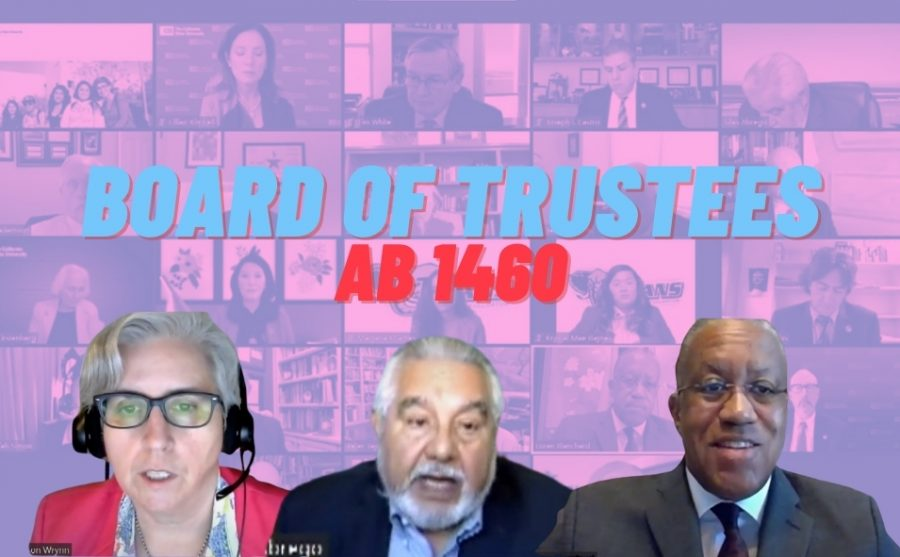 The CSU Board of Trustees discussed concerns of the implementation of Assembly Bill 1460 during its Zoom meeting Tuesday, Nov. 17, 2020.  Some concerns included potential increases in unit requirements for students and a lack of faculty autonomy. Screenshots taken via Zoom.