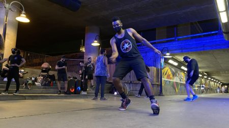Dancers take over K Street tunnel for late-night lessons