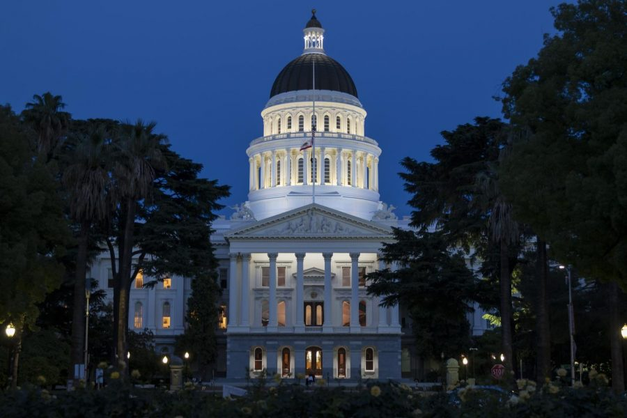 California State Capitol steps empty, except for a few graduates taking photos, due to the COVID-19 pandemic and stay-at-home orders Friday, May 15, 2020. A new regional stay-at-home order will go into effect in the Sacramento region by Friday.