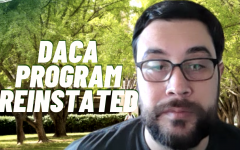 A judge ordered the Trump administration to fully reinstate the Deferred Action for Childhood Arrivals program that was ended in 2017. Program coordinator for the Dreamer Resource Center Erik Ramirez said DACA will protect undocumented young immigrants from deportation and let them work lawfully. Screenshot taken via Zoom.