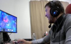 "Christian ""xShadowStarx"" Archbold plays a game of Teamfight Tactics at his desk on Dec. 10, 2020. He is practicing for his next tournament, which may not be for a while due to their scarcity. Photo taken over Zoom."
