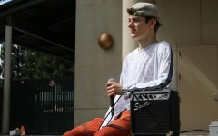 Gavin Wilson, a self-taught beatboxer, waits to perform outside the University Union Wednesday, Sept. 19, 2019. Wilson will perform in the annual Sac States Got Talent competition Thursday, Dec. 3, 2020 on Zoom.