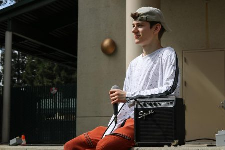 Gavin Wilson, a self-taught beatboxer, waits to perform outside the University Union Wednesday, Sept. 19, 2019. Wilson will perform in the annual Sac State