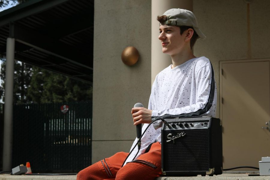 Gavin Wilson, a self-taught beatboxer, waits to perform outside the University Union Wednesday, Sept. 19, 2019. Wilson will perform in the annual Sac State's Got Talent competition Thursday, Dec. 3, 2020 on Zoom.