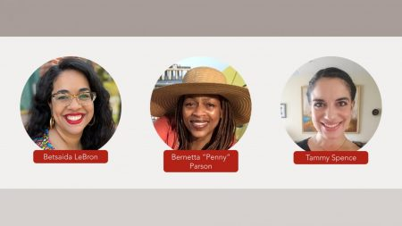 "(left to right) Betsaida LeBron, Bernetta ""Penny"" Parson, and Tammy Spence will be sharing personal love stories via Zoom Friday, Feb 19, 2021 for Capital Storytelling"