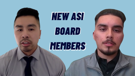 Wayne Cheung, left, and Francisco De La Torre III, right, were sworn in to the Sacramento State Associated Students, Inc. Board of Directors on Wednesday, Feb. 17, 2021. Cheung and De La Torre filled the two remaining vacancies on the board. Screenshots taken by Michael Pacheco via Zoom.
