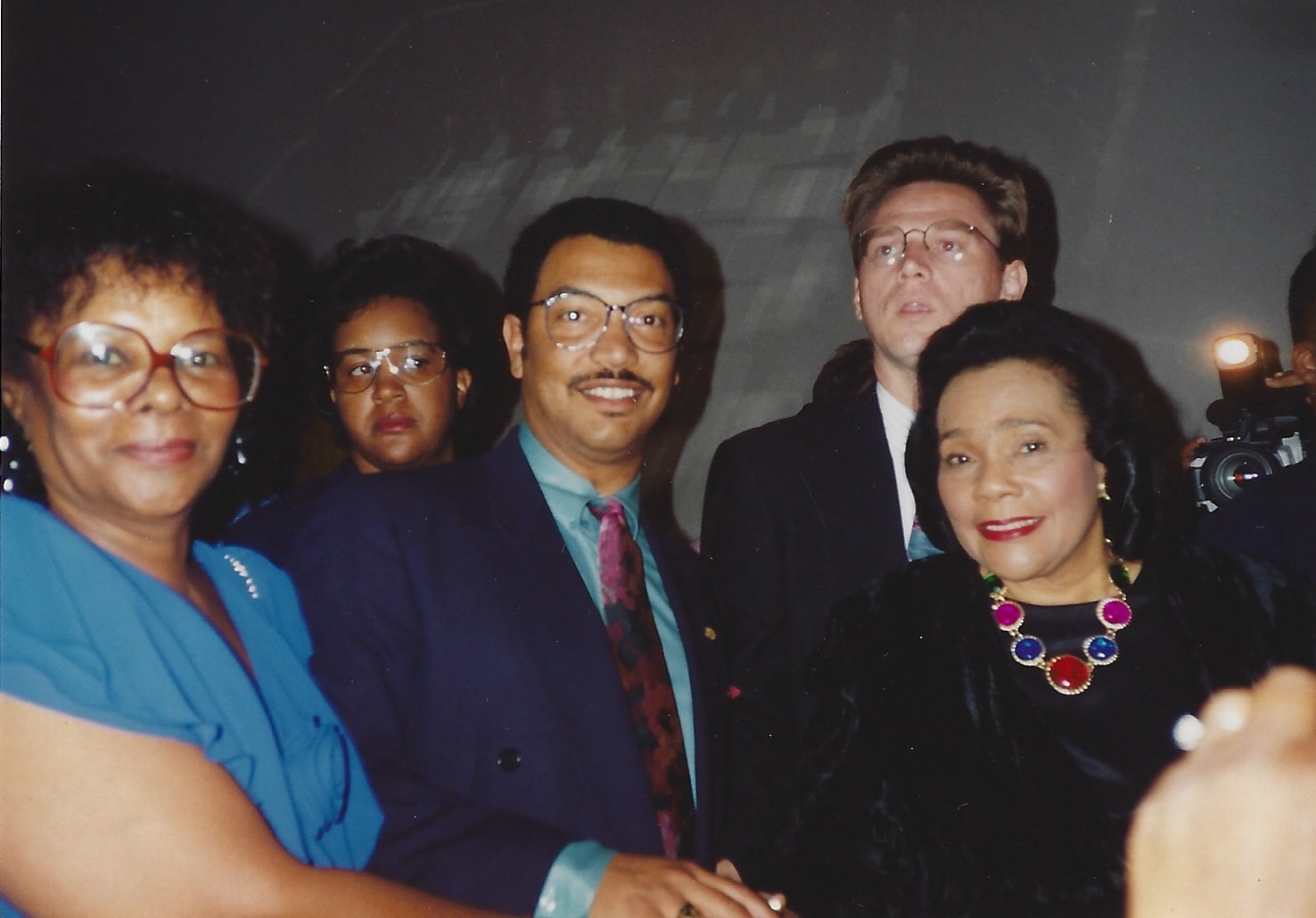 James Reede and Coretta Scott King in 1995 at a dinner celebrating Martin Luther King Day. Reede said he remembers meeting King as a child through his mother's activism work. Photo courtesy of James Reede.