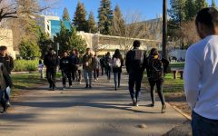 (File photo) Students walk across the library quad in May 2019. Sac State revealed this week that students returning to campus for the fall 2021 will not be required to have taken the COVID-19 vaccine.