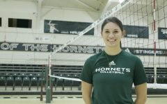 Interim assistant volleyball coach Courtney Hornsby after a home game against Eastern Washington at the the Nest on Saturday, March 6, 2021. As a Sac State senior, Hornsby was a second team All-Big Sky selection while leading the conference with a .369 hitting percentage.