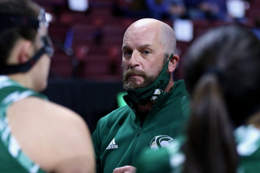 Sac+State+women%27s+basketball+head+coach+Bunky+Harkleroad+during+a+huddle+with+the+team+on+March+9+against+Montana+State+at+the+Big+Sky+Conference+tournament.+Harkleroad%27s+contract+was+not+renewed+after+eight+seasons+with+the+Hornets
