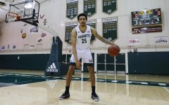 Senior guard Christian Terrell dribbles the ball for a photo before practice at the Nest at Sacramento State Monday, March 1, 2021. Terrell finished the season with 11.9 points per game.