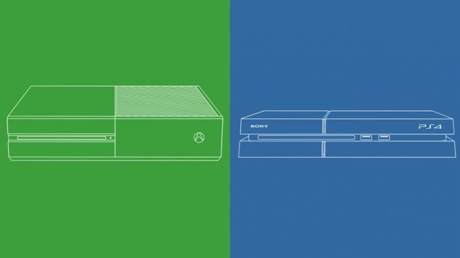 Xbox One, left, and Playstation 4, right, both released within a week of each other in November of 2013. I would play Call of Duty and Overwatch with friends via online on the Playstation 4.