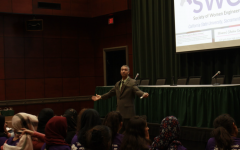 Lorenzo Smith, the dean of the College of Engineering and Computer Science, delivers his keynote speech at Womens Shadow Day on March 2, 2018. Sac State provost Steve Perez announced Smith will leave the university after the spring semester on Thursday, March 18, 2021.