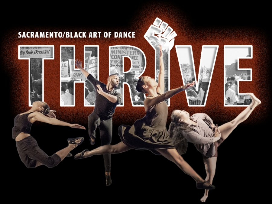 "Sacramento/Black Art of Dance's dance production, ""Thrive,"" features several Sac State students and is available online and on-demand from Thursday, March 17 to Saturday, March 20 with a special director's commentary version Sunday at 2 p.m. Image courtesy of Kevin Wilhite"
