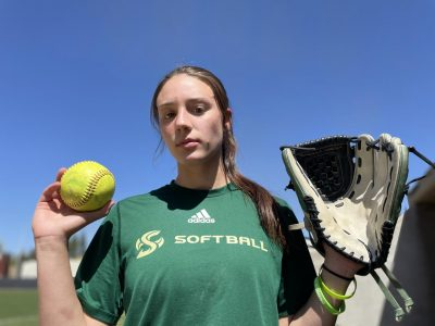 Sacramento State sophomore Marissa Bertuccio poses for a photo during her team practice at Shea Stadium at Sac State on Tuesday, March 30, 2021. Bertuccio leads the Hornets in strikeouts, wins and games pitched this season.