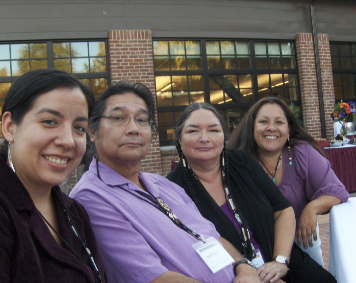 (From left to right) Rose Soza War Soldier, Steve Crum, Annette Reed and Lori Lawa Thomas at the American Indian Studies Conference located at Arizona State in 2011. Like many Native students, Reed has become a mentor to Rose. Photo courtesy of Annette Reed.