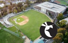 An empty view from above John Smith Field at Sacramento StateWednesday, Oct. 28, 2020. (Sara Nevis)