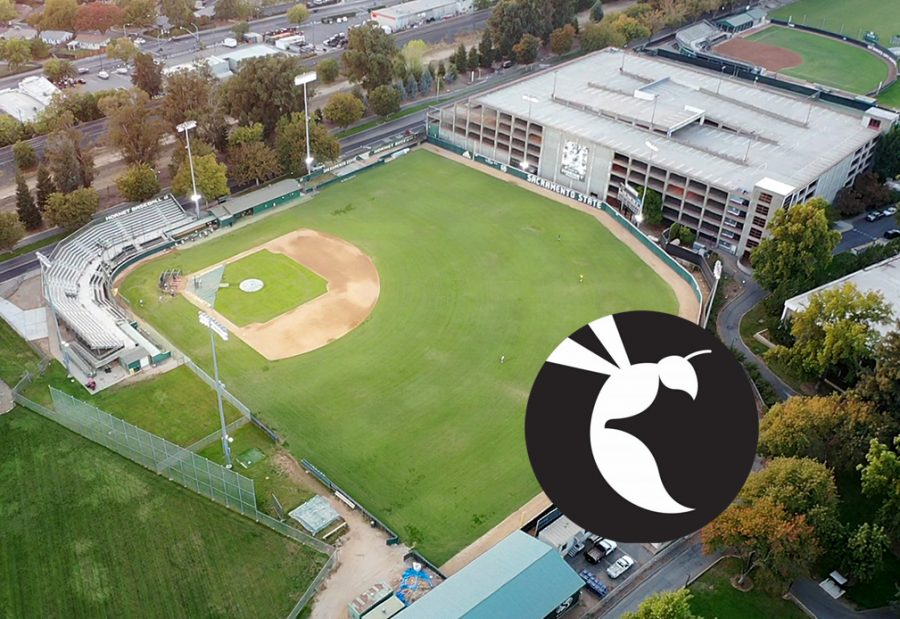 An empty view from above John Smith Field at Sacramento StateWednesday, Oct. 28, 2020. (Sara Nevis)