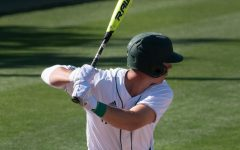 Sac State hitter Matt Smith swings against the Stanford Cardinals on March 29 in a 3-2 Hornet win. Smith became the Sac State leader in hits and RBIs on April 25 against Northern Colorado.