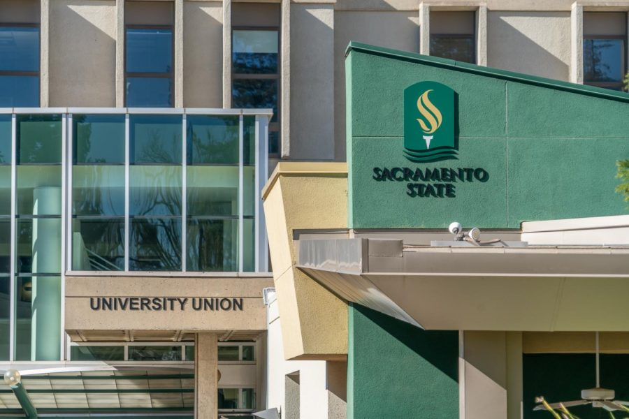 The University Union at Sacramento State Wednesday, Jan. 30, 2021. During regular in-person instruction, students may find the CARES office on the first floor of the University Union in room 1260.