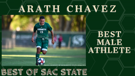 "Arath Chavez received the most votes for ""Best Male Athlete"" in The State Hornet Best of Sac State poll. (photo courtesy of Hornet Athletics)"