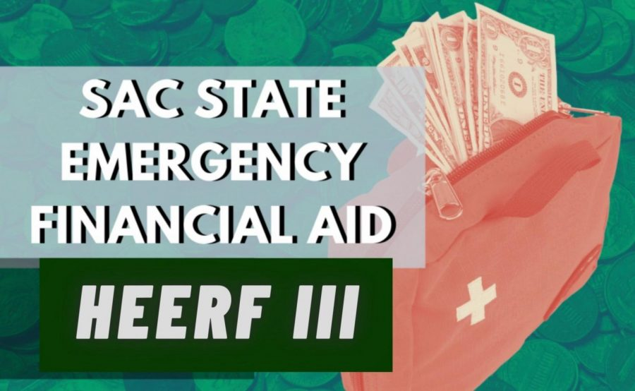 Sacramento+State+students+will+receive+another+grant+from+the+Higher+Education+Emergency+Relief+Fund+%28HEERF%29+in+the+first+week+of+October%2C+according+to+a+SacSend+email+from+President+Robert+Nelsen.+The+amount+that+students+receive+is+dependent+on+their+financial+aid+and+the+number+of+units+they+are+enrolled+in.+%28Graphic+made+in+Canva+by+Chris+Wong+and+Camryn+Dadey%29