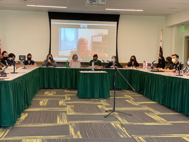 Accounting firm K∙Coe Isom's auditor Christy Norton presents Sacramento State's 2020-2021 audit to Sacramento State's Associated Students, Inc. board of directors via Zoom. Norton said that COVID-19 shutdowns had an impact on financial statements.