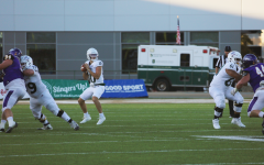 Sac State quarterback Asher OHara (10) looks to throw a pass during the home opener against the University of Northern Iowa on Saturday, Sept. 11, 2021. The Hornets lost the game 34-16 after turning the ball over six times.