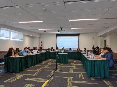All members of Associated Students, Inc. board of directors gather for its weekly meeting on Wednesday, Sept 15, 2021. The board finalized its strategic priorities for the 2021-2022 school year.