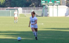 Sacramento State freshman forward Sedona Robinsons dribbles upfield at the Hornet Soccer Field in the second half of the match on Sunday, Sept. 4, 2021. The Hornets beat the Nevada Wolfpack in a 3-0 win after making second half adjustments.