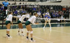 The Sacramento State women's volleyball team plays against Boise State in the Sacramento State invitational tournament on Sept. 11, 2021. The team forced a comeback win against Idaho on Saturday to even their Big Sky Conference record.