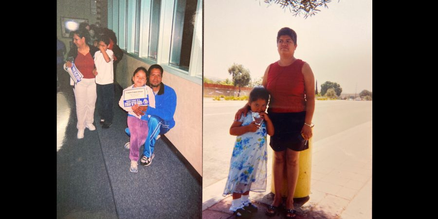 Right photo: Managing editor Magaly Muñoz and her mom after her pre-K graduation. Left photo: Muñoz and her dad at an award ceremony from her elementary school. In her latest testimony, Magaly talks about her experience with being embarrassed by her Hispanic heritage at a young age.